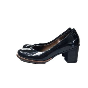 Softwaves Black Comfortable Chunky Heel Pumps US 8